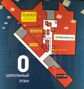 ТЦ КОРАБЛЬ, схема прохода 0 этаж